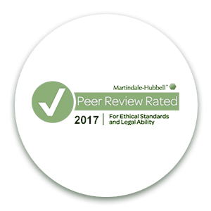 Peer Review Rating TM from Martindale-Hubbell
